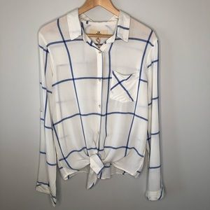 Thread & Supply Window Pane Button Down Shirt XL